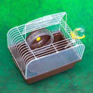 Portable Hamster Cage House Hamster Outdoor Travel Carrier Coffee