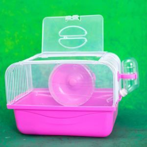 Hamster Cage Habitat Shelter Playground Red