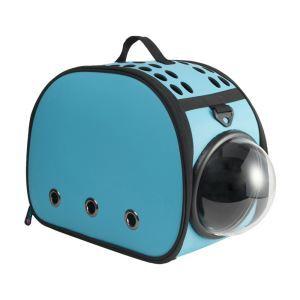 Pet Carrier EVA Bag Portable Foldable Pet Travel Bag Blue
