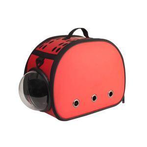 Pet Carrier EVA Bag Portable Foldable Pet Travel Bag Red