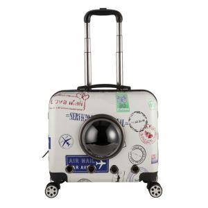 Pet Travel Rolling Carrier Luggage Desgin Little Postmark Pattern