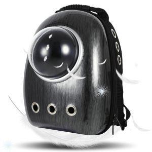 Portable Travel Pet Carrier Space Capsule Bubble Pet Backpack Carrier Black