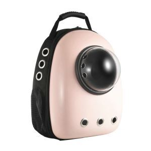 Portable Travel Pet Carrier Space Capsule Bubble Pet Backpack Carrier Pink