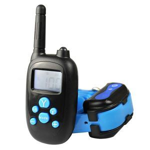 Dog Training Collar Pet Training Supplies Remote Shock Vibration Large Screen Display Blue