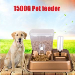 Pet Automatic Feeder Cat Dog Food Water Dispenser Golden