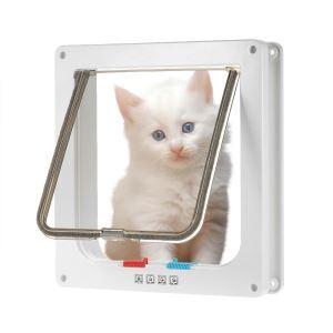 Pet Door Cat Puppy Lock Safe Flap door Pet Safety Product M
