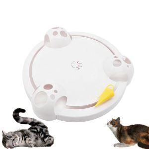 Cat Toy Scratch Board Mouse Game Disc Electric Amusement Plate