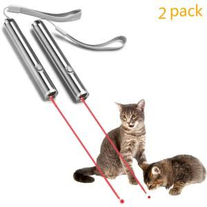Cat Catch Interactive Light Toy Funny 2 in 1 Chaser Toy Scratching Training Tool 2 Pieces