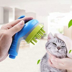 Pet Shower Head Pet Massage Shower Sprayer Washing-Bathroom Sprayer for Dog Cat Horse Blue