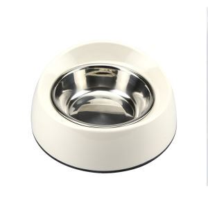 Anti-skid Pet Feeding Bowl Dog Cat Food Bowl White M