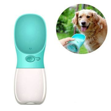 4d0ebae26c42 Portable Dog Water Bottle Pet Water Dispenser Antibacterial Food Grade Dog  Cat Travel Drink Bottle Blue