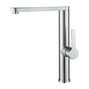 Chrome Swivel Spout Faucet 304 Stainless Steel Mixer Tap 1052