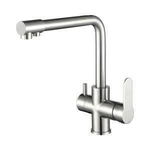 Chrome Swivel Spout Faucet 304 Stainless Steel Mixer Tap 1054