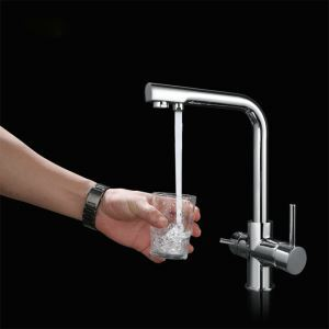 Swivel Spout Faucet Chrome Mixer Tap 1015