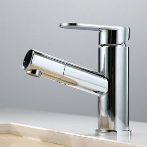 Chrome Pull Down Faucet Single Handle Pull Out Tap 2031
