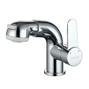 Chrome Pull Down Faucet Single Handle Pull Out Tap 2033-A