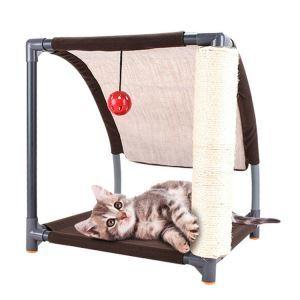 DIY Cat Scratch Climbing Tree Slope Sisal  Steel Claw Slipper Cat Bed Furniture Pet Jumping Platform