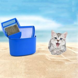 Cat Litter Scoop Plastic Non-Stick Scoop Pet Sand Shovel Cleaning Tool