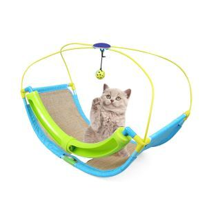 DIY Cat Rocking Roller Cradle Bed Cat Play Toy