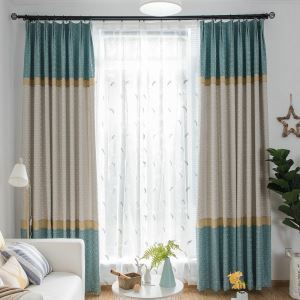 Blue Room Darkening Curtain Living Room Window Treatment Panel
