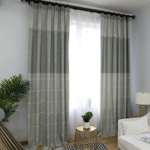 Soft Blackout Curtain Modern Minimalist Jacquard Window Curtain Panel