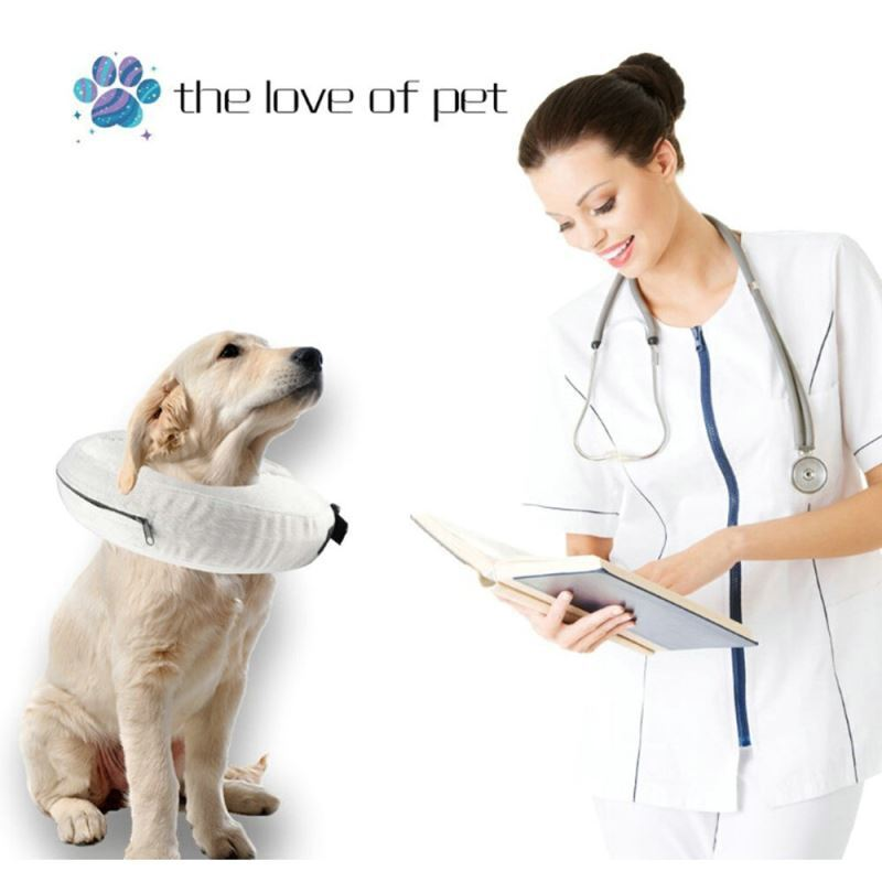 Protective Inflatable Dog Collar Soft Pet Recovery E