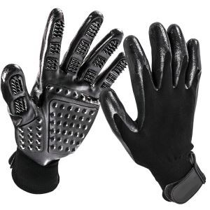 Pet Grooming Gloves Shedding Brush Combing Massage Gloves