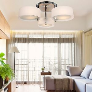(In Stock)Acrylic Chandelier Modern Living 3 Lights (Chrome Finished)
