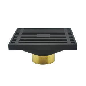 Square Floor Drain Simple Copper Bathroom Accessory 64-7411