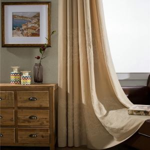 Embroidery Curtain Japanese Simple Clouds Breathable Window Shade