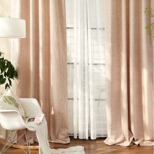 Nordic Jacquard Blackout Curtain Simplicity Breathable Window Treatment