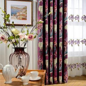 American Luxury Room Darkening Jacquard Blackout Curtain Living Room
