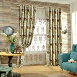 Chenille Room Darkening American Luxury Jacquard Blackout Curtain Living Room