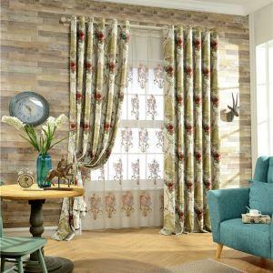 Chenille Room Darkening American Luxury Jacquard Blackout Curtain Living Room