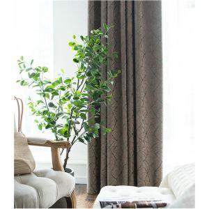 Soft Chenille Blackout Curtain Jacquard Window Treatment