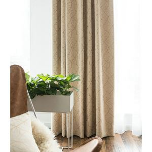 Modern Blackout Curtian Jacquard Soft Chenille Curtain Living Room
