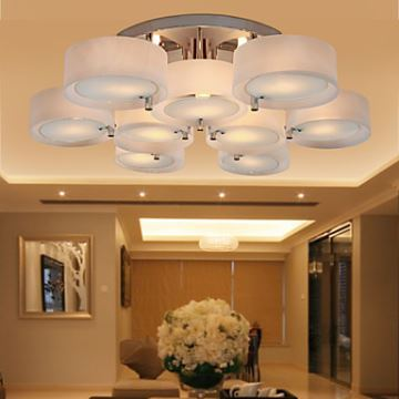 Out Of Stock Acrylic Chandelier With 9 Lights Chrome
