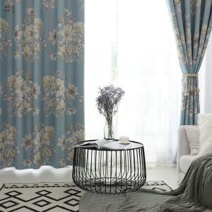 Modern Blackout Curtain Pastoral Floral Room Darking