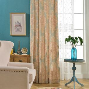 Abstract Design Printed Curtain American Country Style