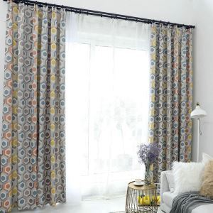 Nordic Printed Curtain Soft Cotton