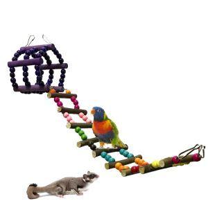Parrot Hamster Toy Ladder Climbing Ladder Rest Platform
