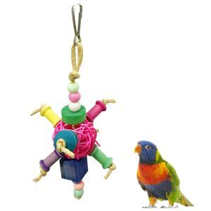 Parrot Rattan Bite Toy Ball Bite Toy