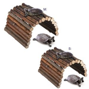 Pet Wooden Fence Tortoise Hamster Climbing Ladder Hading Nest