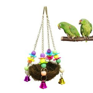 Parrot Straw Toy Little Pet Swing