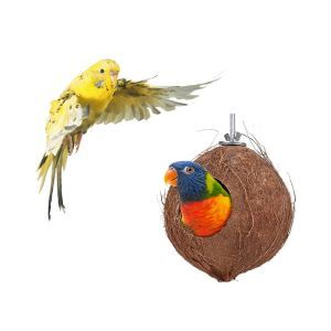 Parrot Coconut Shell Nest Squirrel Hamster Breeding Nest