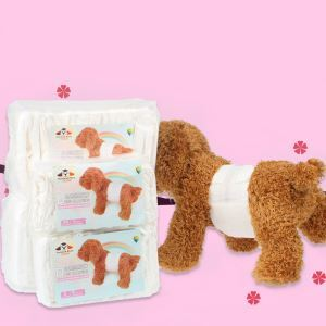 Pet Male Dog Diaper Physiological Pants 12 Pcs