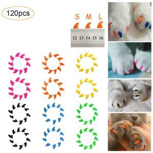 Pet Nail Cover Cat Nail Cover Cat Anti-crawling Cover with Glue 20 Pcs