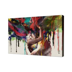 Sweety Lovers Frameless Oil Paintint Modern Minimalist Canvas Micro-spray Home Dining Room Living Room Porch Oil Painting