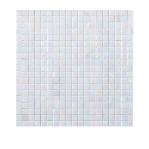 Iridescent White Glass Mosaic Tile 1.5x1.5
