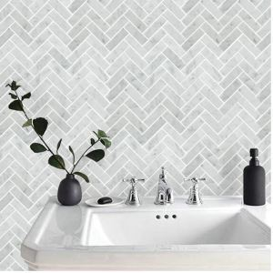 Bath Wall and Floor Mosaic Tile Kitchen Backsplash 14.2*13.4